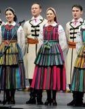Nationale dansgroep van Polen - Mazowsze stock afbeelding