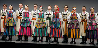 Nationale dansgroep van Polen - Mazowsze stock foto