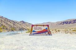 Nationale de doodsvallei van het parkteken Stock Afbeeldingen