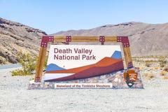 Nationale de doodsvallei van het parkteken Royalty-vrije Stock Foto