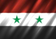 Nationale de vlagachtergrond van Syrië Stock Foto's