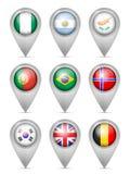 Nationale de vlagreeks van de kaartteller royalty-vrije illustratie
