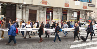 Nationale Demonstration zur Unterstützung Nino Di Matteos Lizenzfreie Stockfotografie