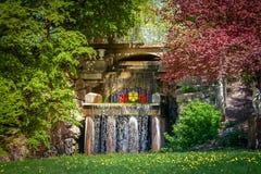 Nationale dendrological park & x22; Sofiyivka& x22; , Uman, de Oekraïne Sofiyivka is een toneeloriëntatiepunt van wereld het tuin Stock Afbeelding