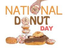 Nationale Donut-Tageszeichen-Fahnen-Anzeige Lizenzfreie Stockbilder