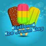Nationale Eiscreme-Tagesvektorillustration für Grußkarte, -plakat und -fahne Stockfoto