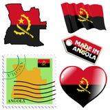 Nationale Farben von Angola Lizenzfreies Stockfoto