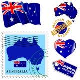 Nationale Farben von Australien Stockfotos