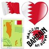 Nationale Farben von Bahrain Stockbild