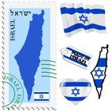 Nationale Farben von Israel Stockfotos