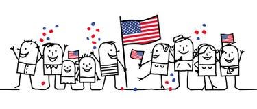 Nationale feestdag - de V.S. Royalty-vrije Stock Afbeeldingen