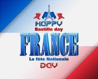 Nationale feestdag van Frankrijk, Bastille-dag Royalty-vrije Stock Fotografie