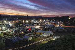 Nationale Fieldays Dämmerung Stockfotografie