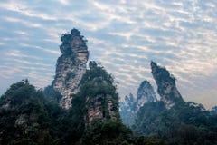 Nationale Forest Park Jinbian Creek Shilihualang Berge Hunans Zhangjiajie Stockbild
