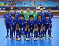 Nationale futsal het teamspelers van Thailand Royalty-vrije Stock Foto