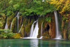 Nationale het parkwatervallen van Plitvice - Kroatië Royalty-vrije Stock Foto's