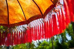 Nationale Indonesische decoratieparaplu voor ceremonies Stock Afbeelding