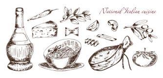 Nationale Italiaanse Keuken Royalty-vrije Stock Foto's