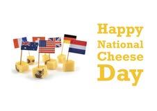 Nationale Käse-Tagesillustration Stockbild