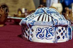 Nationale kasachische Andenken - Yurta - die nomadischen Völker von Asien-Haus lizenzfreies stockbild