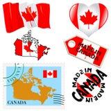 Nationale kleuren van Canada Stock Afbeelding