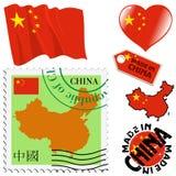 Nationale kleuren van China Stock Afbeelding