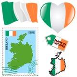 Nationale kleuren van Ierland Royalty-vrije Stock Afbeeldingen