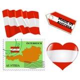 Nationale kleuren van Oostenrijk Royalty-vrije Stock Foto