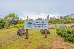 Nationale Konserve Parque Ecologico tun Funchal, Madeira Stockbild