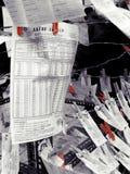 Nationale loterijkaartjes voor verkoop royalty-vrije stock foto