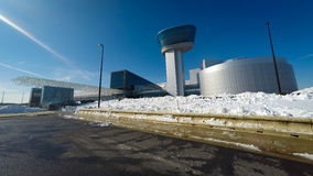 Nationale Luft und Weltraummuseum im Winter stockbilder