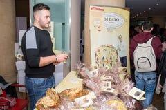 Nationale Messe von Panettone und von Pandoro Rom Italien Stockfotos