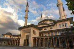 Nationale Moschee in Ankara die Türkei lizenzfreie stockbilder