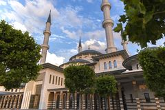 Nationale Moskee Bestepe Ankara Turkije stock foto