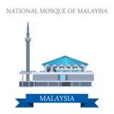 Nationale Moskee van het oriëntatiepunt van de de aantrekkelijkheidsreis van Maleisië royalty-vrije illustratie