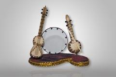 Nationale Musikinstrumente Aserbaidschans Musikinstrumentgegenstände stockfoto