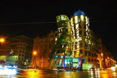 Nationale-Nederlandengebäude in Prag, Tschechische Republik Stockfotos