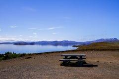 Nationale park en rivier Thingvellir in IJsland 12 06.2017 Royalty-vrije Stock Afbeelding