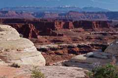 Nationale pk-Witte Barst uT-Canyonlands Royalty-vrije Stock Foto