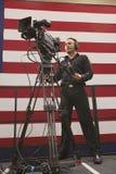 Nationale Presse und Fernsehkameramänner Stockfotos