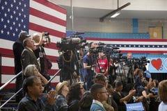 Nationale Presse und Fernsehkameramänner Stockfoto