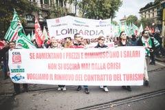 Nationale Staking van toerisme in Milaan op 31 Oktober, 2013 Stock Foto