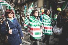 Nationale Staking van toerisme in Milaan op 31 Oktober, 2013 Royalty-vrije Stock Afbeeldingen