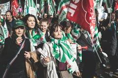 Nationale Staking van toerisme in Milaan op 31 Oktober, 2013 Stock Afbeeldingen