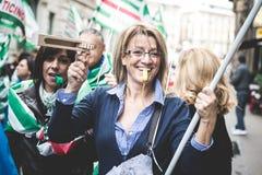 Nationale Staking van toerisme in Milaan op 31 Oktober, 2013 Stock Fotografie