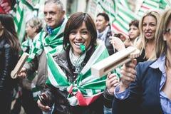 Nationale Staking van toerisme in Milaan op 31 Oktober, 2013 Royalty-vrije Stock Foto's
