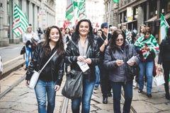 Nationale Staking van toerisme in Milaan op 31 Oktober, 2013 Stock Afbeelding
