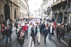 Nationale Staking van toerisme in Milaan op 31 Oktober, 2013 Stock Foto's