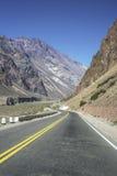 Nationale Straße 7 in Mendoza, Argentinien Lizenzfreies Stockbild
