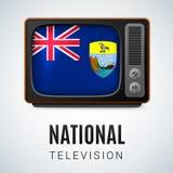 Nationale Televisie Stock Foto
